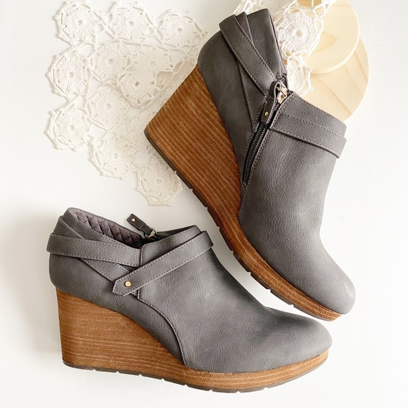 Dr. Scholl's Shoes - Dr Scholl's What's good grey wedge ankle bootie